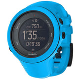 Suunto SS020682000 Ambit3 Sport Blue Digital Display Quartz Watch, Blue Silicone Band, Round 50mm Case