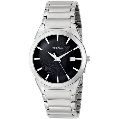 Bulova 96B149 Classic Analog Display Quartz Watch, Silver Stainless Steel, Round 38mm Case
