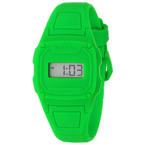 Freestyle Women's 101146 Shark Slim Classic Digital Watch, Green Silicone Band, Square 36mm Case