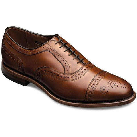 Allen Edmonds 1635 Men's Strand Cap-Toe Oxfords Shoes, Walnut Calf, Size 12.5 D US