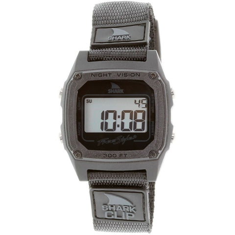 Freestyle Men's FS84978 Shark Clip Black Digital Watch, Black Nylon Band, Square 37mm Case