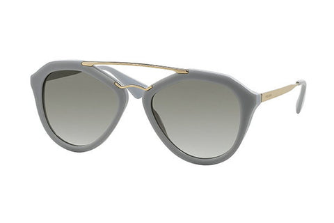 Prada PR12QS TV30A7 Cinema Sunglasses, Opal Matte Gray Frame, Gray Gradient 54mm Lenses