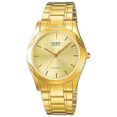 Casio MTP-1275G-9A Gold Analog Display Quartz Watch, Stainless Steel Band, Round 35mm Case