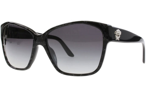 Versace VE 4277 51368G, Animalier Black/Black Frame, Grey Gradient 60mm Lenses