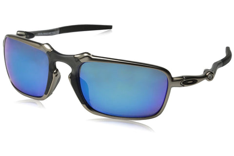 Oakley OO6020-04 Men's Badman Sunglasses, Plasma Frame, Polarized Sapphire Iridium 60mm Lenses