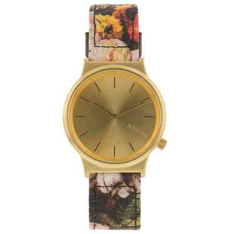 Komono KOM-W1829 Wizard Print Series Flemish Baroque Analog Quartz Watch, Multicolour Fabric Band, Round 37mm Case