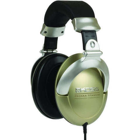 Koss PRO4AAT Titanium Professional Headphones, Over-Ear, 10-25,000 Hz Frequency Response, 250 Ohms Impedance