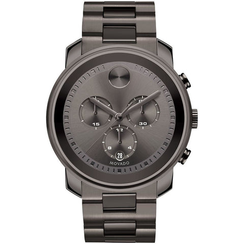 Movado 3600277 Bold Analog Display Chronograph Quartz Watch, Gunmetal Gray Ion-Plated Stainless Steel Band, Round 44mm Case