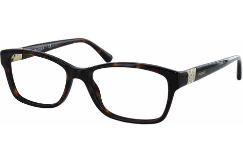Vogue VO2765B W656 Eyeglasses, Dark Havana Frame, Clear 53mm Lenses