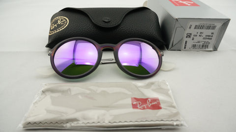 Ray-Ban RB4222 6168/4V Sunglasses, Violet/Gunmetal Frame, Violet Mirror 50mm Lenses