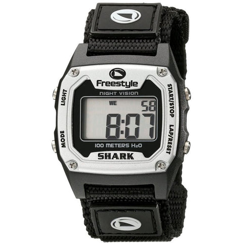 Freestyle Unisex 779024 Shark Classic Digital Watch, Black Nylon Band, Square 38mm Case