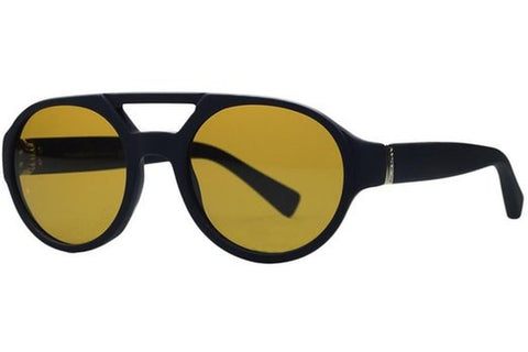 Yves Saint Laurent YSL 2316/S E76/BV Sunglasses, Gummed Black Frame, Yellow Beige 51mm Lenses