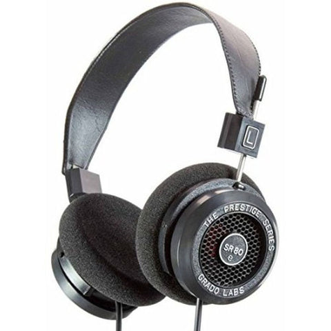 Grado SR80e Prestige Series Headphones, Dynamic Open Air, 20-20,000Hz Frequency Response, 32Ohms Impedance