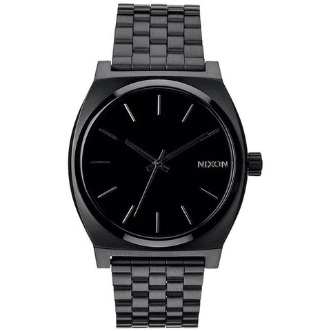 Nixon A045001 Men's Time Teller Analog Watch, Black Stainless Steel Band, Round 37mm Case
