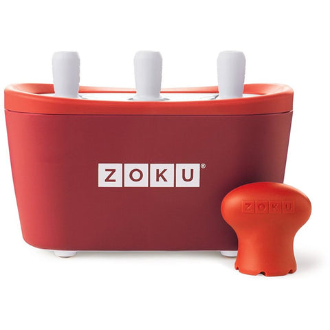 Zoku Zk101-RD Triple Quick Pop Maker, Red