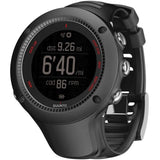 Suunto SS021257000 Ambit3 Run Black (HR) Digital Display Quartz Watch, Black Elastomer Band, Round 50mm Case