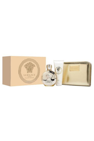 Versace Eros 3 Pcs Set For Women: 3.4 Edp Sp