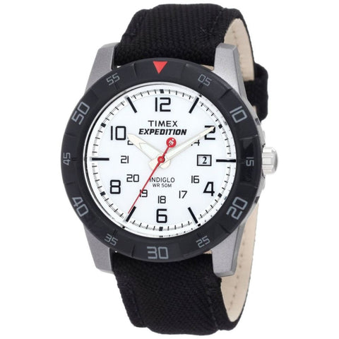 Timex T498639J Expedition Rugged Analog Display Quartz Watch, Black Fabric Band, Round 43mm Case
