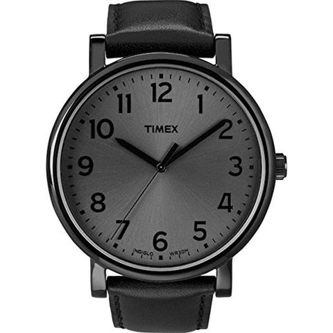 Timex T2N346AB Modern Originals Grande Classics Men's Analog Display Quartz Watch, Black Leather Band, Round 42mm Case