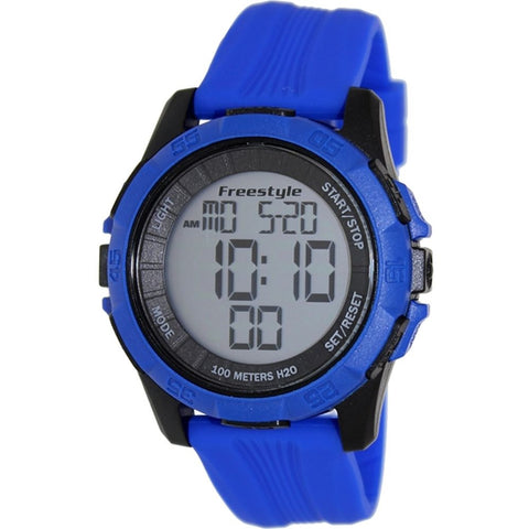 Freestyle Men's 101984 Kampus XL Digital Watch, Blue Silicone Band, Round 50mm Case