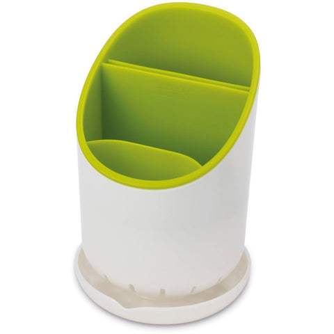 Joseph Joseph 85074 Dock Cutlery Drainer and Organizer, White/Green