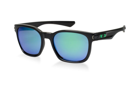 Oakley OO9175-04 Garage Rock Sunglasses, Polished Black Frame, Jade Iridium 55mm Lenses
