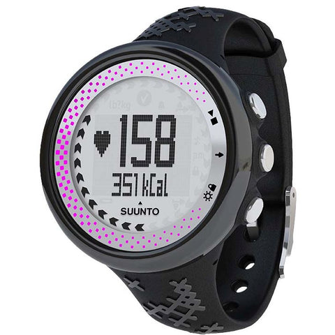 Suunto SS020233000 M5 Black/Silver Digital Display Quartz Watch, Black Elastomer Band, Round 43.6mm Case