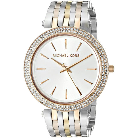 Michael Kors MK3203 Darci Analog Display Quartz Watch, Two-Tone Stainless Steel Band, Round 39mm Case