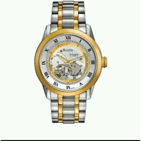 Bulova 98A123 Men's BVA Series Analog Display Automatic Watch, Two-Tone Stainless Steel Band, Round 42mm Case