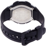 Casio AQ-163W-1B1 Analog Display Quartz Watch, Black Rubber Band, Round 41mm Case