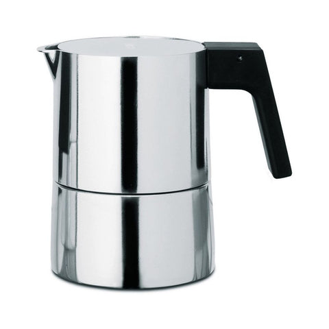 Alessi PL01-3 Piero Lissoni Pina Espresso,Silver Coffee Maker, 6in H x 4 2/7in Diameter, 5.25 oz.