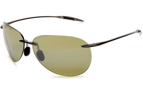Maui Jim HT421-11 Sugar Beach Sunglasses, Trans Smoke Grey Frame, Polarized Maui HT 62mm Lenses