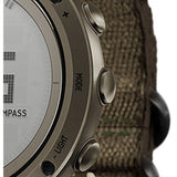 Suunto SS021217000 Essential Slate Men's Digital Display Quartz Watch, Slate Textile Band, Round 49.1mm Case