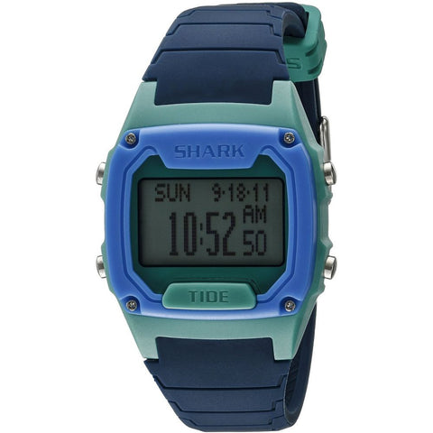 Freestyle Unisex 10022917 Classic Tide Navy/Green/Blue Digital Watch, Blue Silicone Band, Round 38mm Case