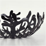 Alessi ESI02/25 B LPWK-Emma Silvestris Mediterraneo Fruit Holder, Black, 3in H x 9in Diameter