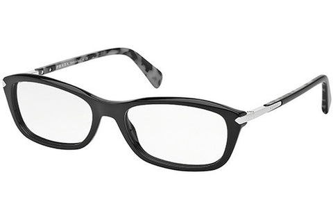 Prada PR04PV 1AB1O1 Eyeglasses, Black Frame, Clear 52mm Lenses