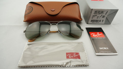 Ray-Ban RB3362 029/71 Cockpit Sunglasses, Gunmetal Frame, Gray Gradient 59mm Lenses