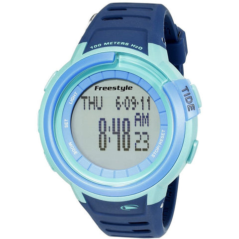 Freestyle Men's 10022918 Mariner Tide Navy/Green/Blue Digital Watch, Blue Silicone Band, Round 46mm Case