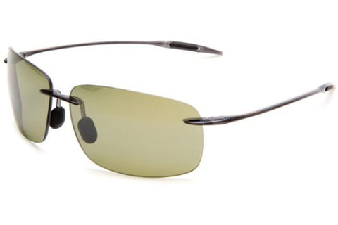 Maui Jim HT422-11 Breakwall Sunglasses, Trans Smoke Grey Frame, Polarized Maui HT 63mm Lenses