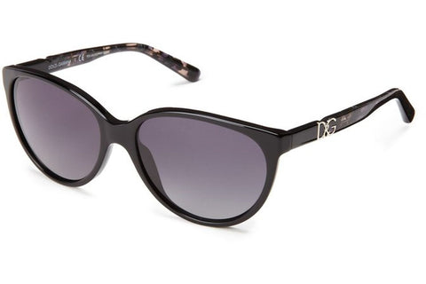 Dolce & Gabbana DG4171P 2688/T3 Sunglasses, Black Frame, Polarized Gray Gradient 56mm Lenses