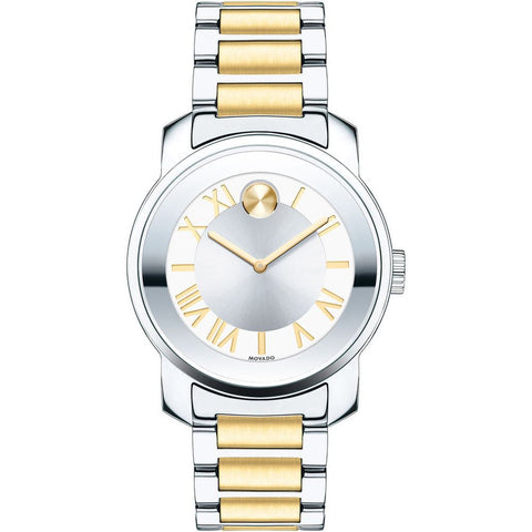 Movado 3600245 Bold Luxe Analog Display Quartz Watch, Two-Tone Stainless Steel Band, Round 32mm Case