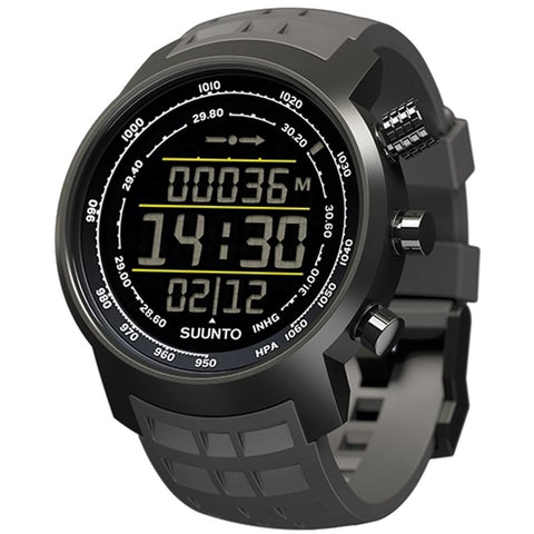 Suunto SS020336000 Elementum Terra Stealth Negative Gray Rubber Digital Display Quartz Watch, Gray Rubber Band, Round 51.5mm Case