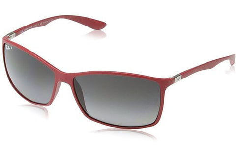 Ray-Ban RB4179 6123T3 Liteforce Tech Sunglasses, Red Frame, Polarized Grey Gradient 62mm Lenses