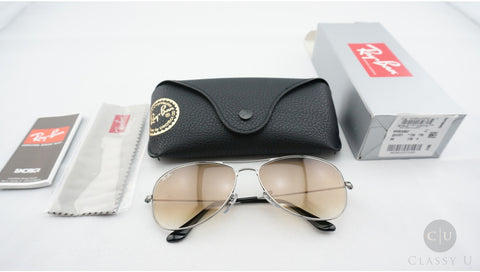 Ray-Ban RB3362 004/51 Cockpit Sunglasses, Gunmetal Frame, Light Brown Gradient 59mm Lenses