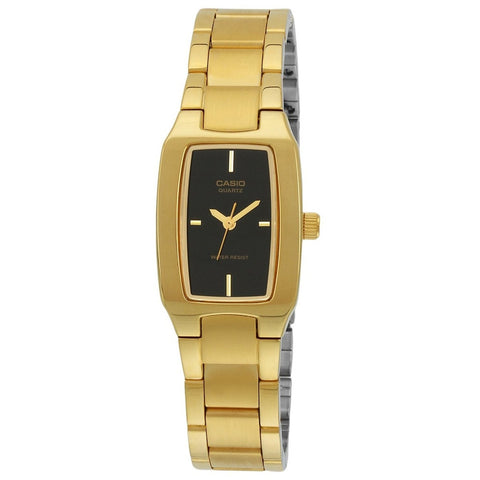 Casio LTP1165N-1C Women's Analog Display Quartz Watch, Gold Stainless Steel Band, Rectangle 22mm Case