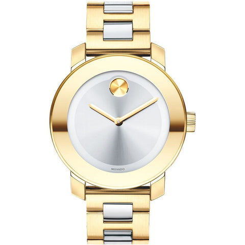 Movado 3600129 Bold Analog Display Quartz Watch, Yellow Gold Ion-Plated Stainless Steel Band, Round 36mm Case