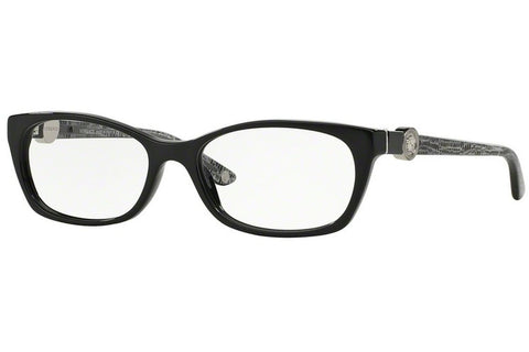Versace VE3164 GB1 Eyeglasses, Shiny Black Frame, Clear 51mm Lenses