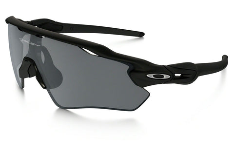 Oakley OO9208-01 Men's Radar Shield Sunglasses, Matte Black Frame, Black Iridium 38mm Lenses