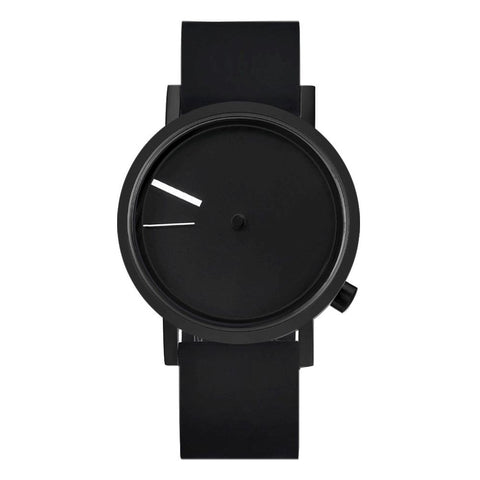 Projects 7295 BS-40 Outside Watch by Denis Guidone Analog Display Quartz Watch, Black Silicone Band, Round 40mm Case