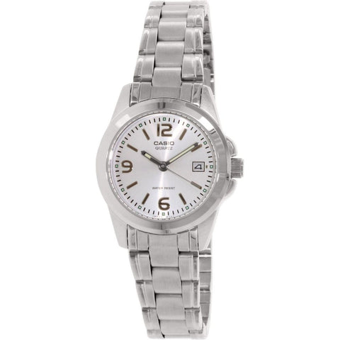 Casio LTP-1215A-7ADF Analog Display Quartz Watch, Silver Stainless Steel Band, Round 27mm Case